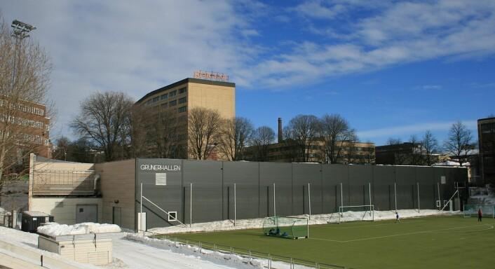 Grünerhallen tar opp i mot 600 publikummere, ikke verdig et lag i Get-ligaen. Foto: Vidariv / Wikipedia