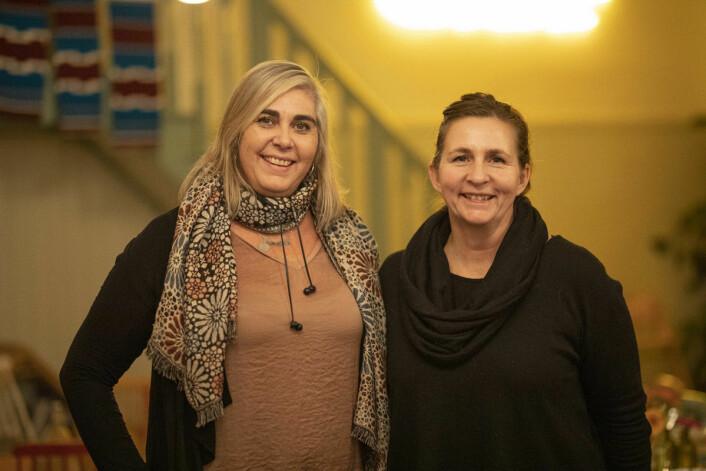 Ragnhild Slettner og Christine Pramm er de to damene bak Injera Palace. Foto: Olav Helland