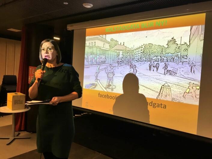 Hanna Marcussen er spent på hvilken læring som kommer ut av den lokale medbestemmelsen på Tøyen. Foto: Vegard Vellle