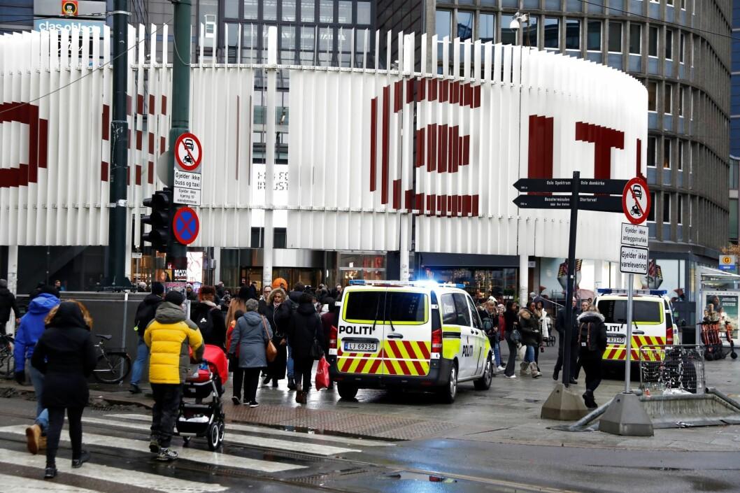 Fallulykke på shoppingsenteret Oslo City onsdag. Foto: Ole Berg-Rusten / NTB scanpix