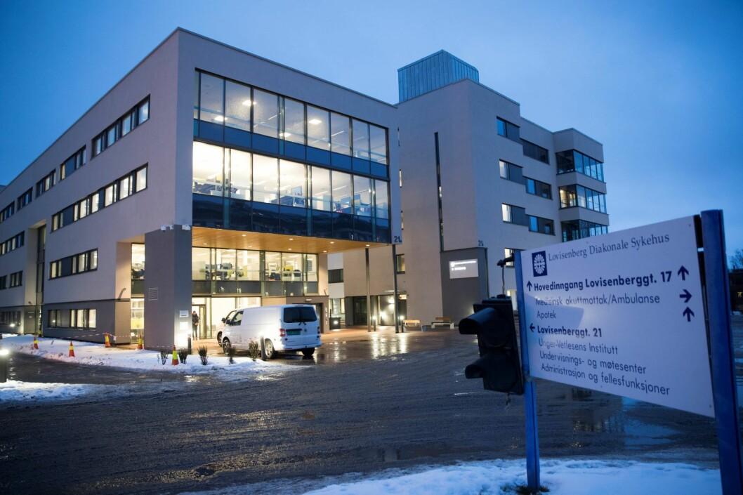 Lovisenberg Diakonale Sykehus i Oslo har fått forelegg på 300.000 kroner etter at en pasient døde. Illustrasjonsfoto: Terje Pedersen / NTB scanpix