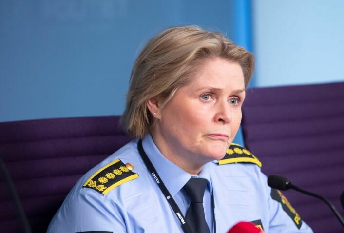 Den drapssiktede kvinnen er godt kjent av politiet fra før, opplyser politiinspektør Grete Metlid. Foto: Lise Åserud / NTB scanpix