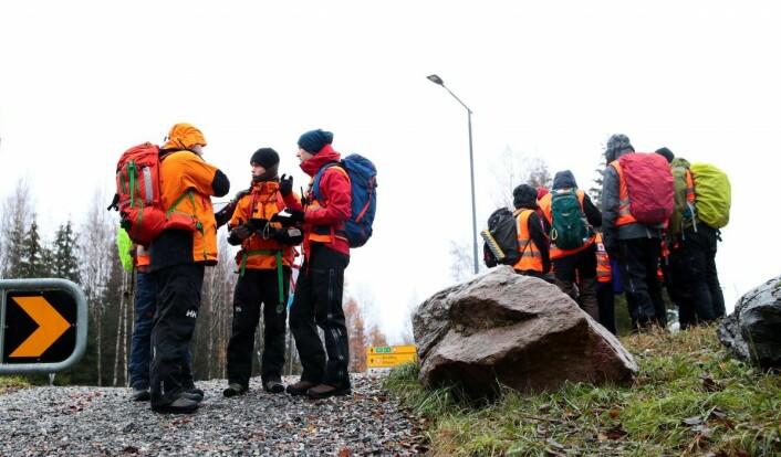 Politiet og frivillige letemannskaper avslutter søket som har pågått siden lørdag natt. Foto: Håkon Mosvold Larsen / NTB scanpix