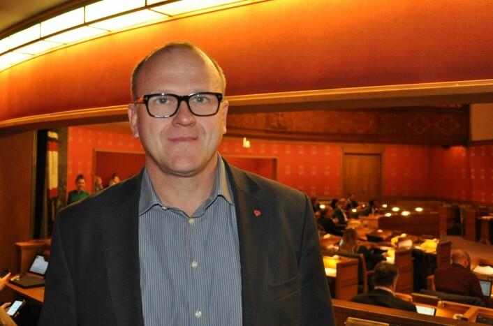 � Jeg har i og for seg sympati for saken som Rødt tar opp. Men mener at dette ikke er en sak Oslo bystyre skal befatte seg med, sier Frode Jacobsen (Ap). Foto: Arnsten Linstad