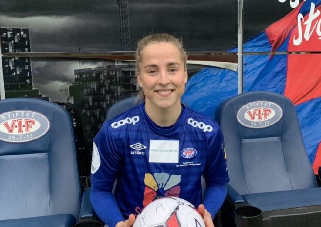 � Jeg har veldig tro på at Vålerenga er rett sted til rett tid for meg nå det, sier Sigrid Heien-Hansen. Foto: Vålerenga fotball damer