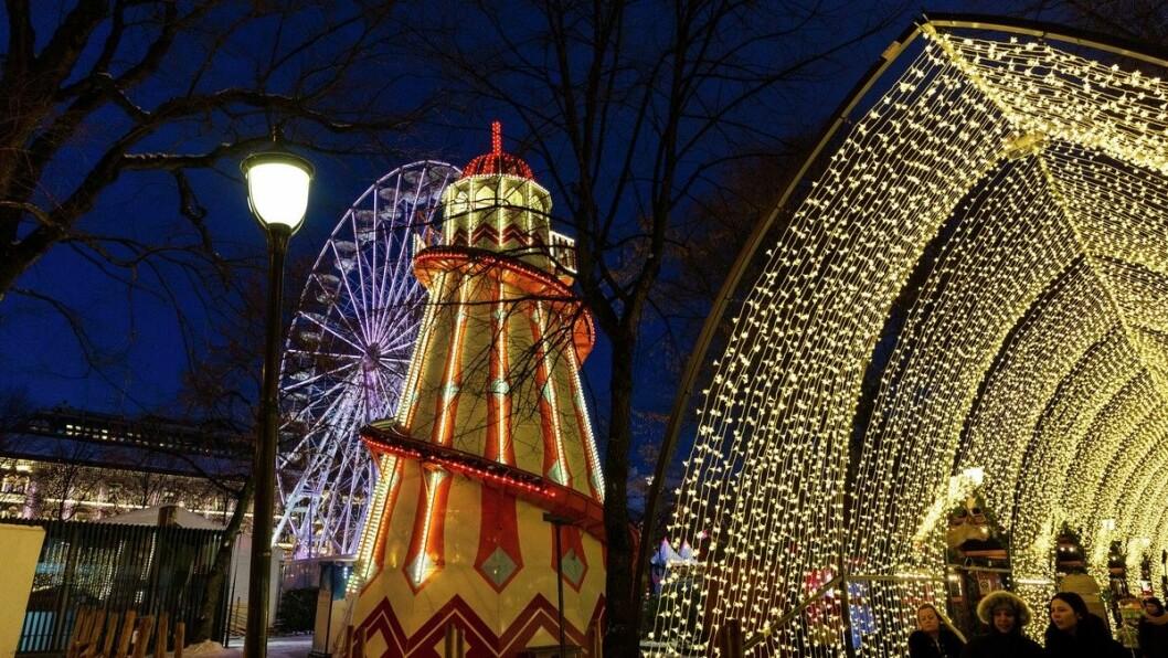 Jul i vinterland skaper allerede god stemning i Spikersuppa. Foto: VISITOSLO / Didrick Stenersen