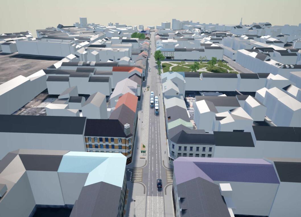 Gjør deg klar for fase 2 av arbeidet i Thorvald Meyers gate. Illustrasjon: Bymiljøetaten