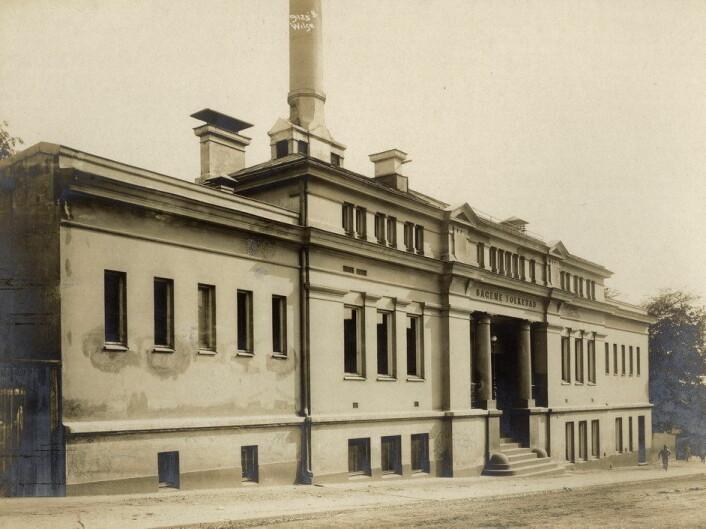Sagene bad før 1924. Foto: Anders Beer Wilse / Oslo byarkiv