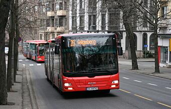 Bussbransjen i Oslo og Akershus advarer mot avgift på biodiesel