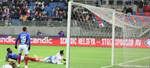 Heller ikke i årets siste hjemmekamp lykkes det for Vålerenga-gutta. Tapte knepent mot seriemester Molde