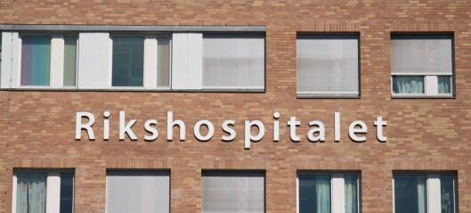 Ansatt ved Rikshospitalet testet positivt på koronasmitte