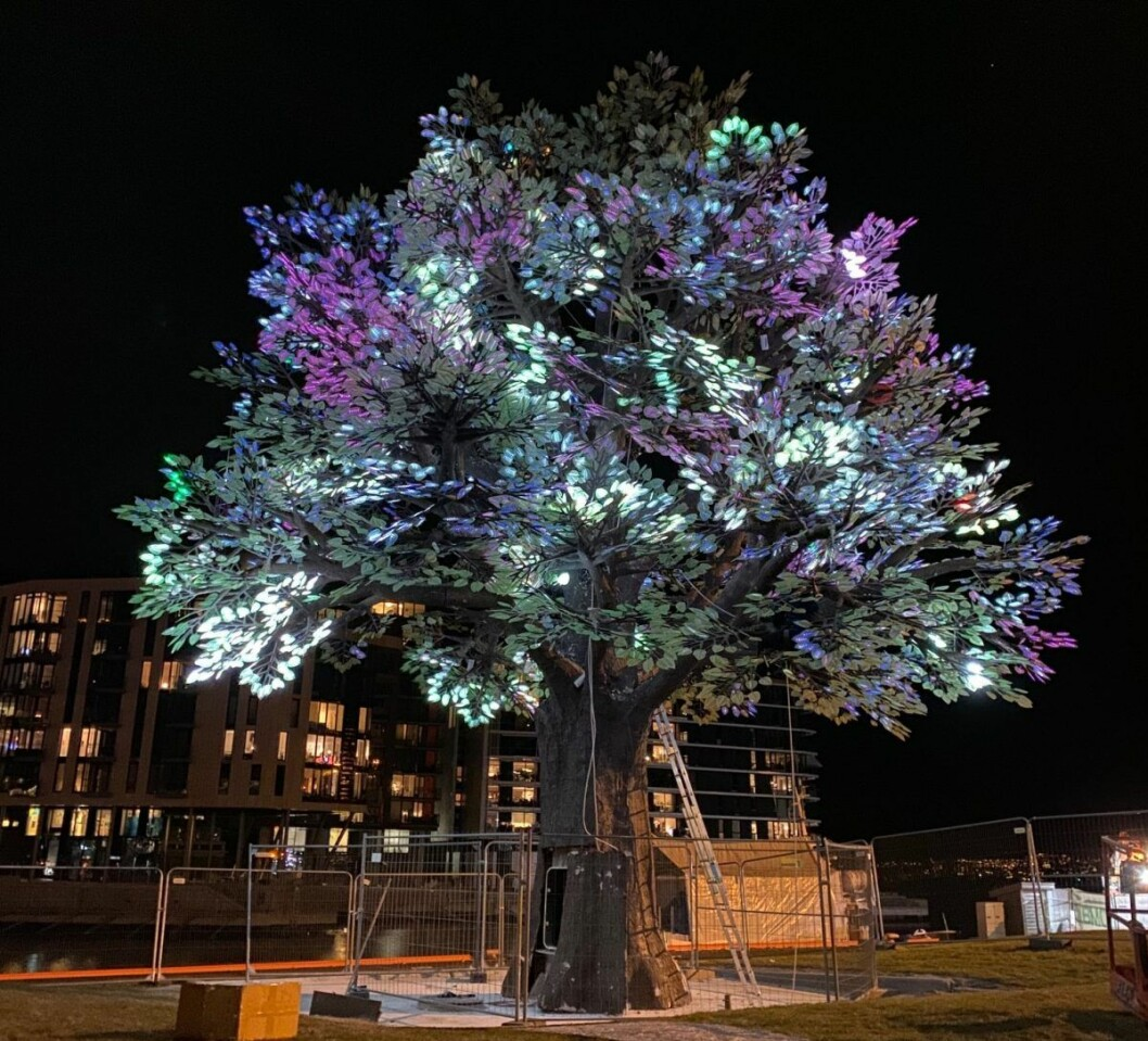 �  Jeg er glad for at Stein Erik Hagen kom til oss med denne ideen. Nå deler han en kunstopplevelse med alle i byen. Jeg er sikker på at det blir en attraksjon, sier byrådsleder Raymond Johansen (Ap). Foto: Canica AS