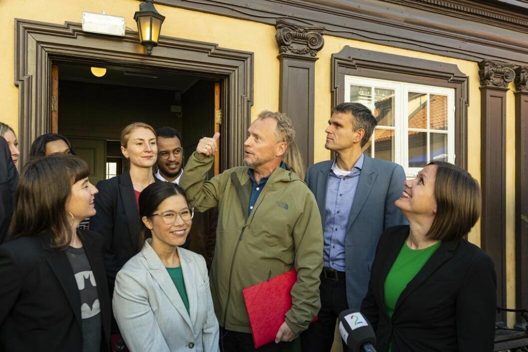 Rødt sikrer at byrådsleder Raymond Johansen og resten av det rødgrønne Ap/MDG/SV-byrådet får bystyreflertall for hovedtrekkene i det opprinnelige budsjettforslaget. Foto: Morten Lauveng Jørgensen