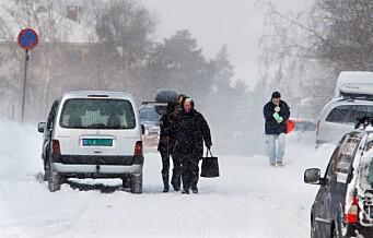 Regn med snøkaos i trafikken fra torsdag. Nå kommer vinteren