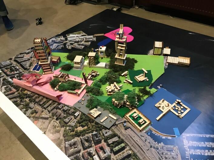 Byplanmodell 1 av Filipstad. Foto: Caroline Støvring