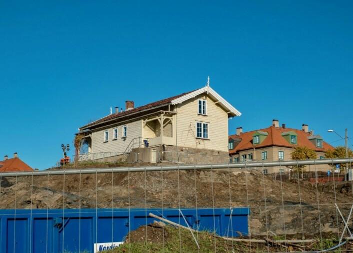 Det tidligere våningshuset til gamle Lille Tøyen gård blir innlemmet i den nye demenslandsbyen. Foto: Erik Holland Haukebø