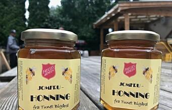 By-honningen som vant NM til salgs på Jobbens julemarked i Gamlebyen