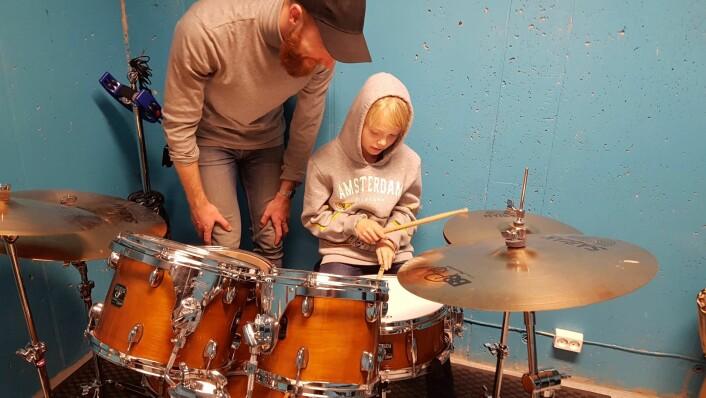 Snart kan små og store øve i de nye øvingsrommene i Holmlia kirke. Foto: Martine Larsen Rygh