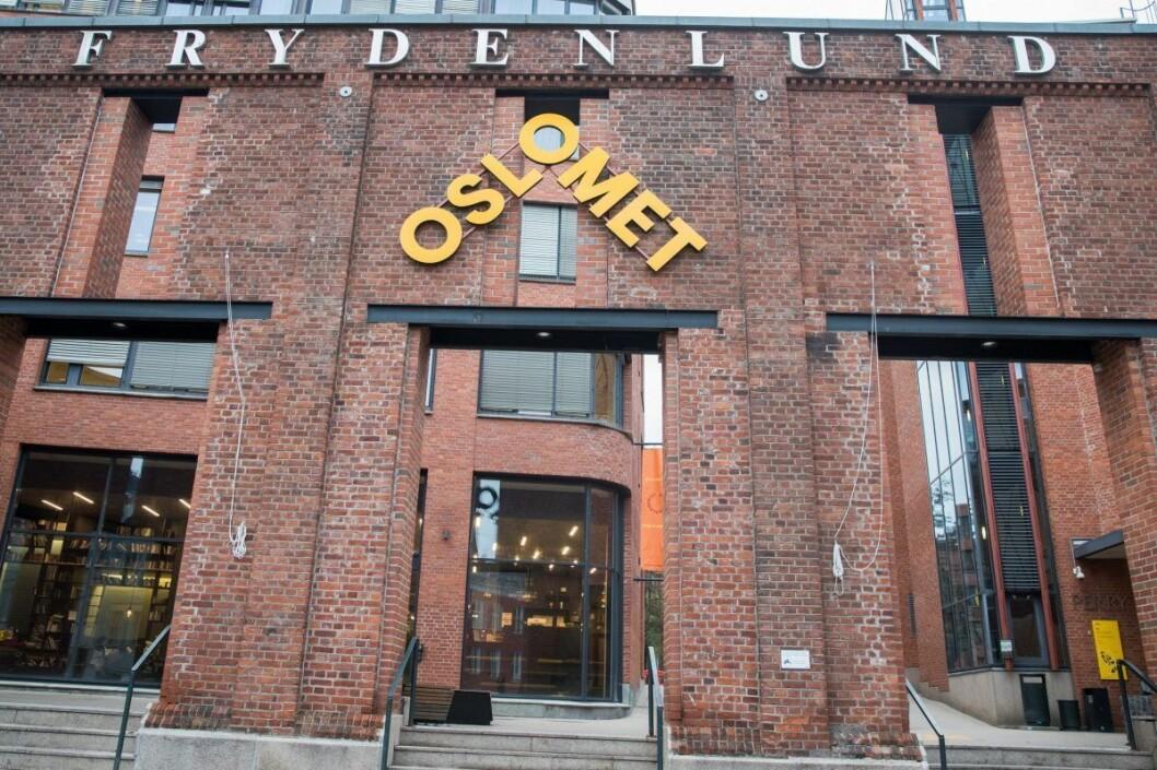 Høyskolen i Oslo og Akershus byttet ifjor navn til OsloMet - storbyuniversitetet. Navneskiftet er kontroversielt og brukes av kulturministeren som eksempel på et uegnet navn. Foto: Berit Roald / NTB scanpix
