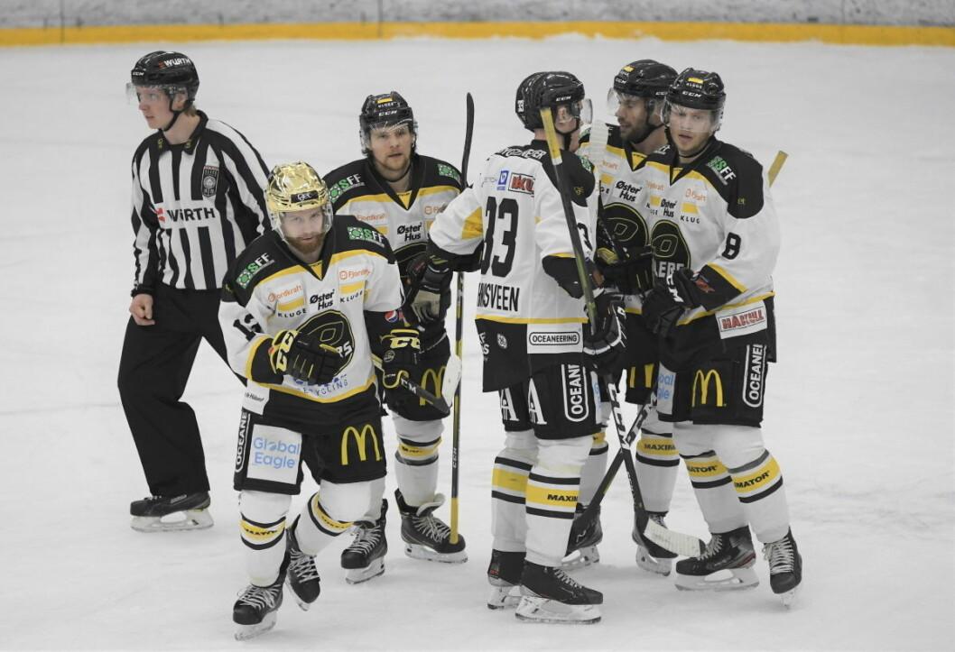 Serieleder Stavanger hadde få problemer med å slå Grüner 9-2 i hockeyens eliteserie lørdag. Foto: Christian Boger