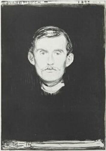 """""""Selvportrett"""" av Edvard Munch. Foto: Blomqvist / Edvard Munch"""
