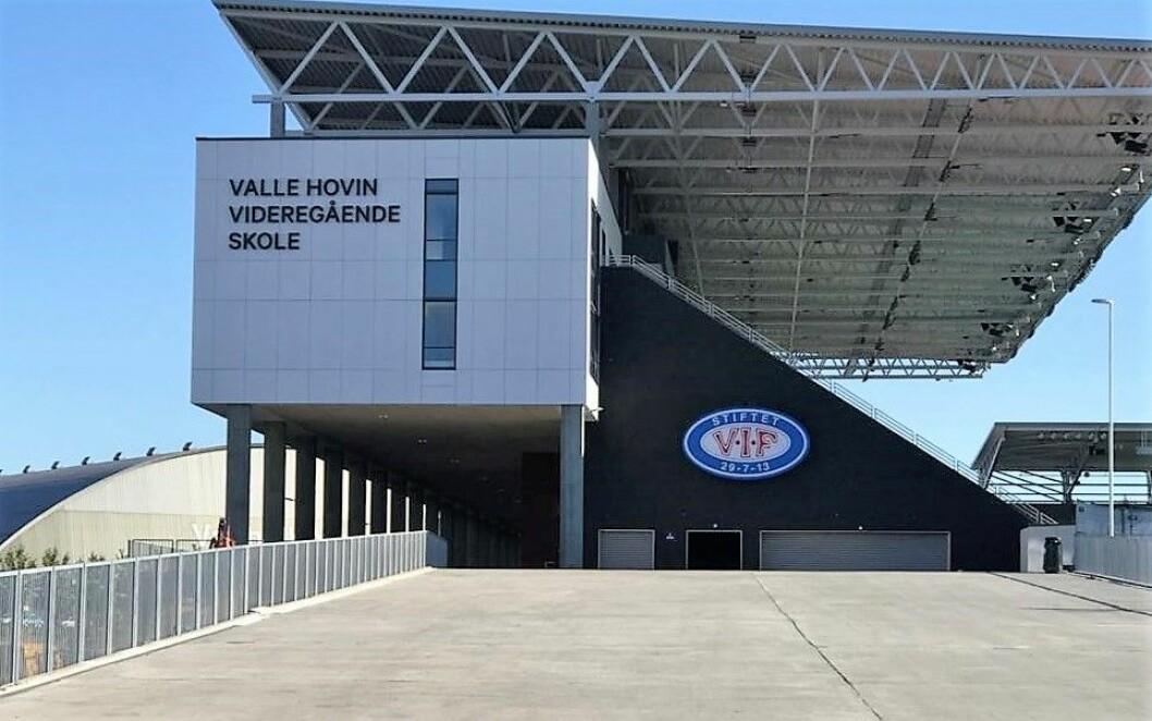 Valle Hovin videregående skole, plassert i Intility Arena.  Foto: Valle Hovin videregående skole
