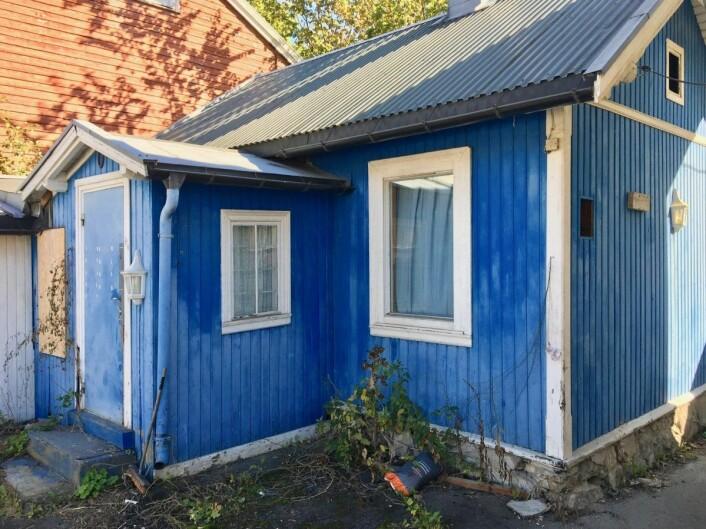 Øyvind Austenaa vil ikke gå nærmere inn på hva det blå huset skal brukes til i fremtiden. Foto: André Kjernsli