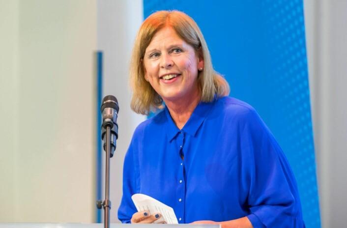 Frps gruppeleder i bystyret, Camilla Wilhelmsen, sier FNBs forslag er godt. Og varsler at Frp vil støtte gratis bompassering i helgene. Foto: Heiko Junge / NTB scanpix