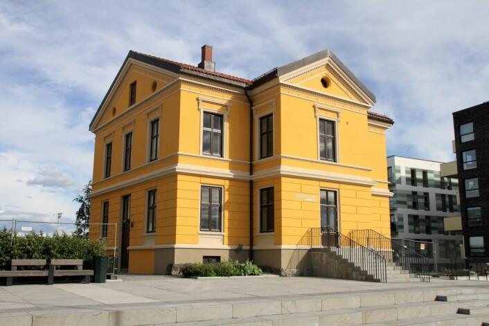 Den gamle praktvillaen, Petersborghuset, ligger midt blant nybyggene i Tiedemannsbyen. Foto: Per Øivind Eriksen / Ensjø aktuell informasjon