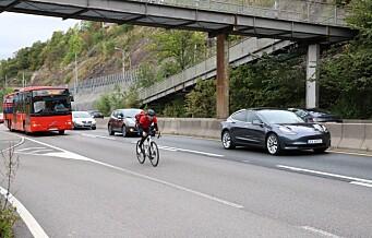 Syklist dømt i lagmannsretten for å ha syklet i kollektivfelt