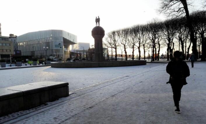Christian Frederiks plass blir en del av Operaallmenningen, et av byens største uterom. Operaallmenningen strekker seg fra enden av Karl Johans gate, og til Operahuset og Akerselva. Foto: Anders Høilund