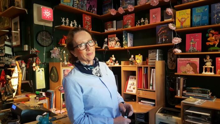 Anne Borge har glødet for barnebokbutikken i 25 år. Foto: Tarjei Kidd Olsen