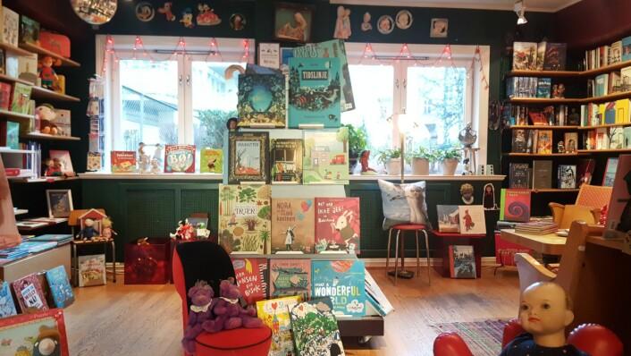 I Bokstua fins alle klassikerne. Det beste innen barnelitteratur. Foto: Tarjei Kidd Olsen