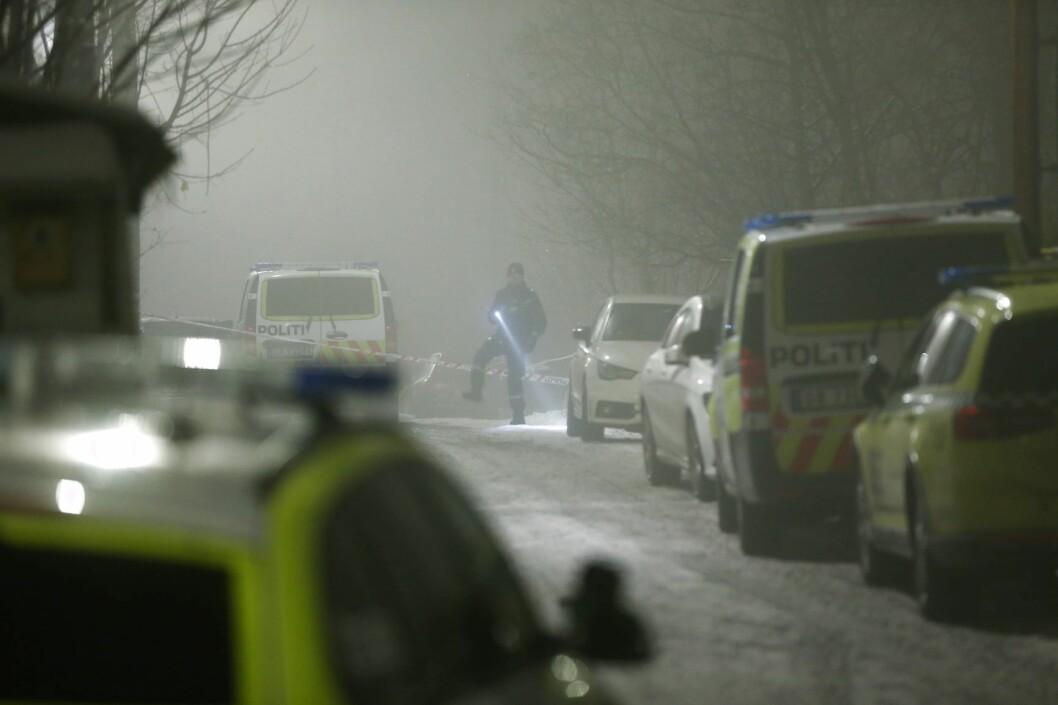 To personer er pågrepet og siktet for drapsforsøk etter hendelsen på Grorud onsdag ettermiddag. Foto: Ørn Borgen / NTB scanpix