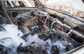 Politiet undersøker bilbrann på Tveita