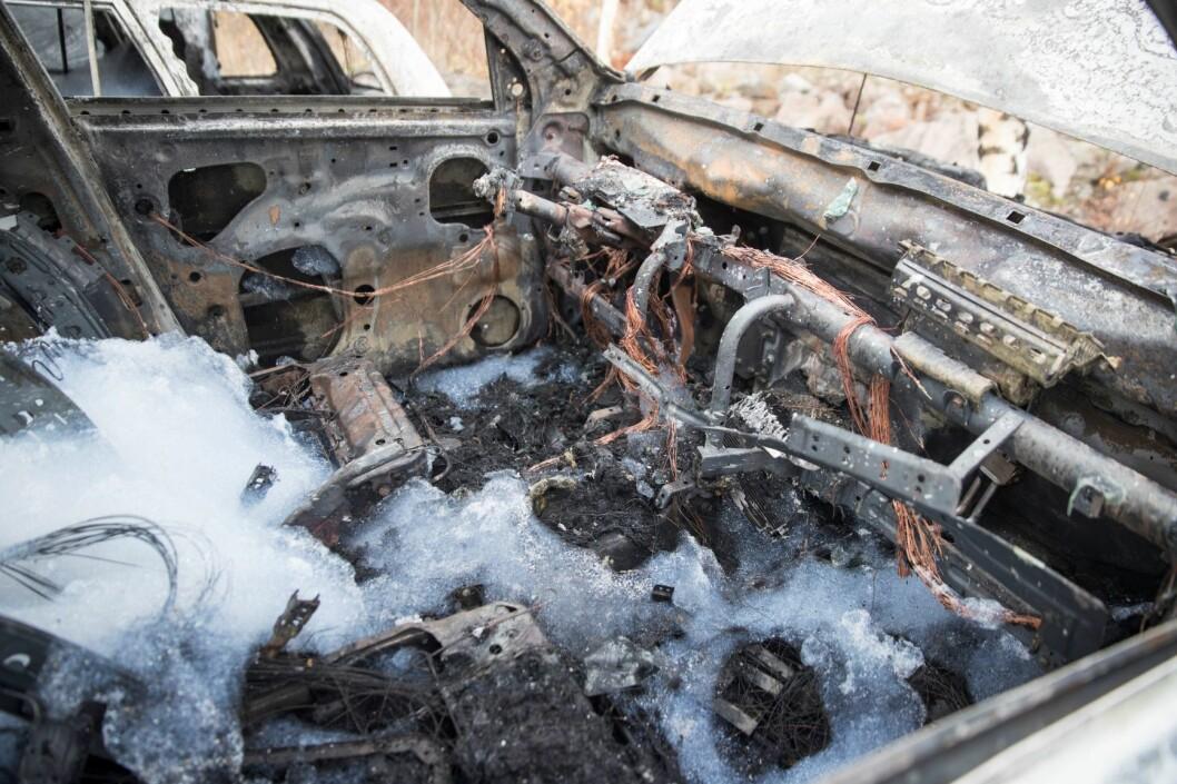 Det var i natt nok en bil som brant. Denne gangen på Sinsen. Illustrasjonsfoto: Terje Pedersen / NTB scanpix