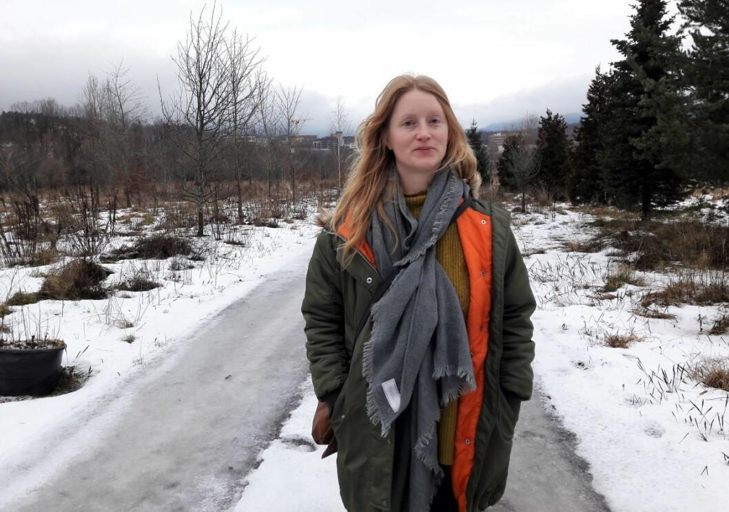 Prosjektleder for Engebråten parsellhager, Guro Alette Elvenes, kan kunngjøre nyåpningen til våren. Foto: Anders Høilund