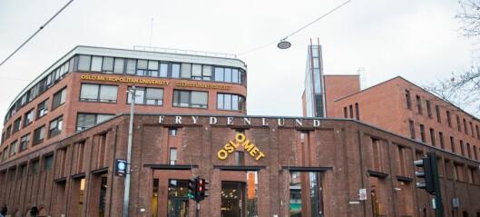 Studenter ved OsloMet fikk samme eksamen som i fjor – eksamenen annullert