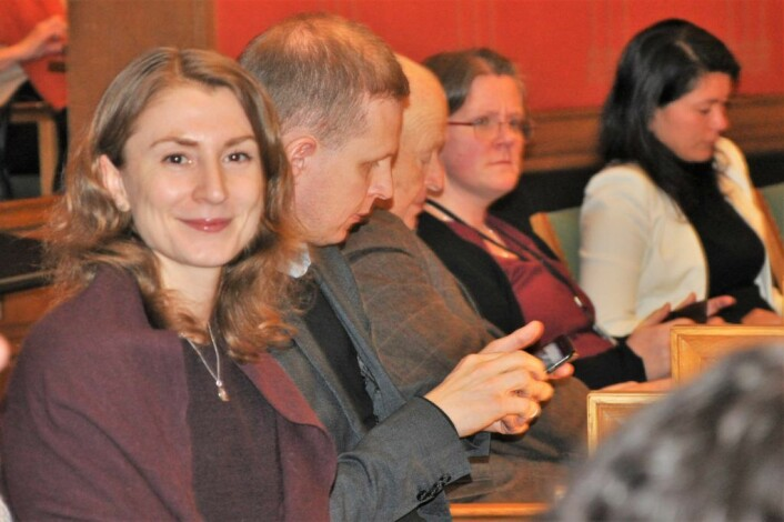 Sunniva Holmås Eidsvoll til v.) er gruppeleder for SV i bystyret. Men vil ikke svare på spørsmål fra VårtOslo om midlertidig skoleløsning for Bolteløkka-elever. Foto: Arnsten Linstad