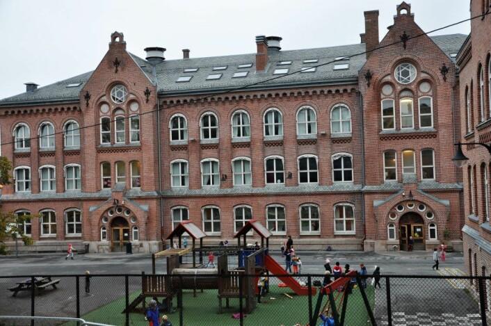 121 år gamle Bolteløkka skole stenges etter planen i to og et halvt år når rehabiliteringsarbeidet starter. Foto: Arnsten Linstad