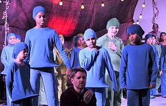 På Gamlebyen skole må nisser og reinsdyr vike for Wagner og Mozart. Elevene fremfører opera