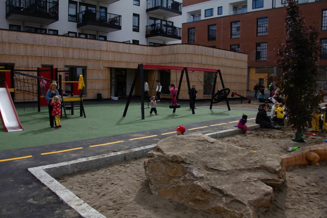 Krydderhagen barnehage på Hasle er en av de nye barnehagene som er åpnet det siste året i Oslo. Foto: Morten Lauveng Jørgensen