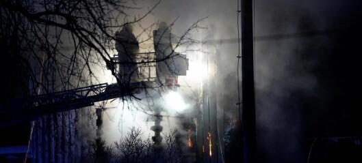 To personer lettere skadd i brann på Brannfjell