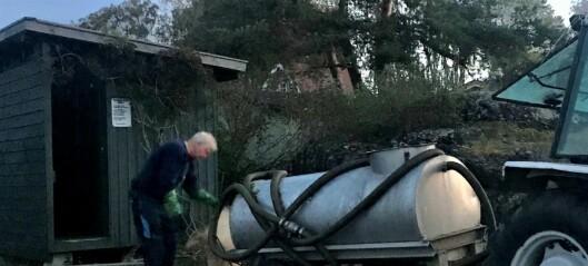 – Det er skuffende at politikerne i Oslo ikke ruster opp vann- og avløpsforholdene på hytteøyene