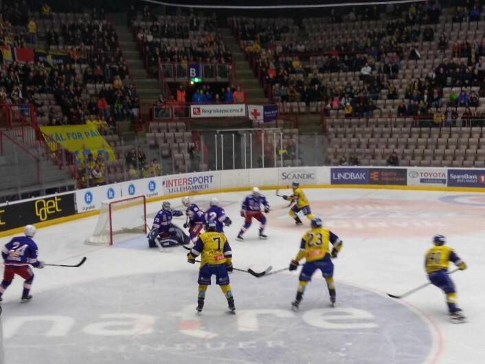 Vålerenga var nær ved å redusere flere ganger i kampen, men keeper Luka Gracnar holdt nullen for andre kamp på rad. Foto: Arnsten Linstad
