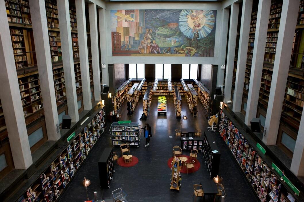 30. desember stenger gamle Deichman på Hammersborg. Det nye hovedbiblioteket i Oslo åpner 28. mars. Foto: Thomas Brun / NTB scanpix