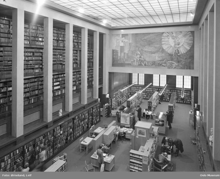 Deichman hovedbibliotek i 1978. Foto: Leif Ørnelund/Oslo Museum