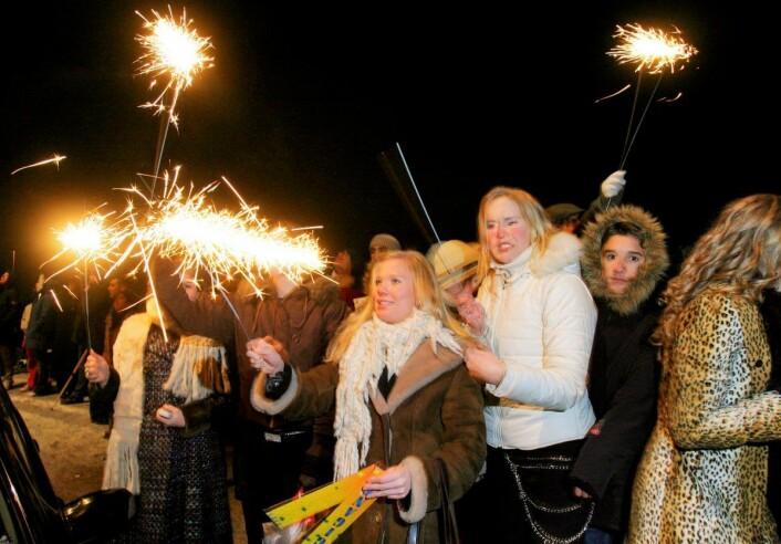 Oslofolk kan se fram til flott rakettvær under årets nyttårsfeiring. Illustrasjonsfoto: Heiko Junge/ NTB scanpix