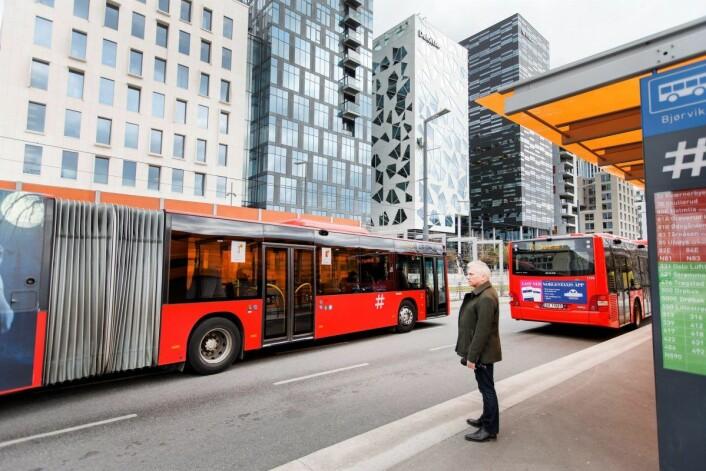 Skal du ta del i nyttårsfestlighetene i Oslo sentrum, anbefales du å reise kollektivt. Illustrasjnsfoto: Gorm Kallestad / NTB scanpix
