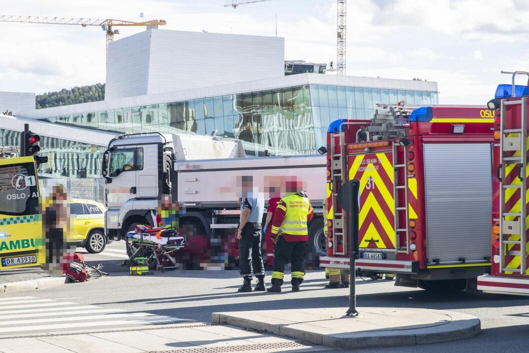 En syklist omkom i 2018 etter å ha blitt påkjørt av en lastebil ved Tollboden. Foto: Håkon Mosvold Larsen / NTB scanpix
